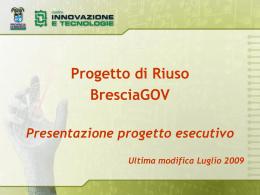 Presentazione progetto esecutivo Luglio 2009