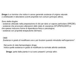 droghe - Università degli Studi di Roma Tor Vergata