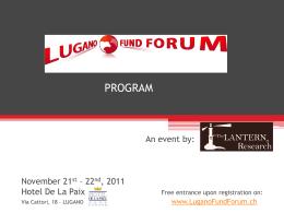 Program - Lugano Fund Forum