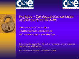 Allegato A - Workshop CSE 2-12-2009 - agenda