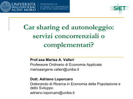 servizi concorrenziali o complementari? - SIET