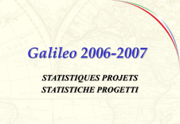 Galileo 2006-07 PROGETTI PER SEDE FRANCESE TOT. PROJETS
