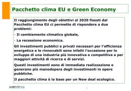 Italia 2020, uno scenario fattibile, per una Green Economy made in