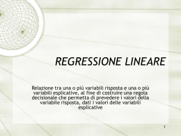 regressione lineare