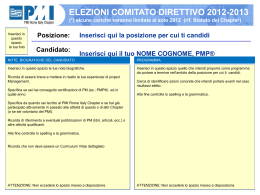 Candidato - PMI Rome Italy Chapter