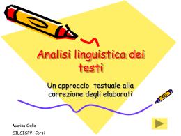 Analisi linguistica dei testi