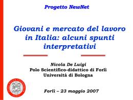 Giovani e mercato del lavoro in Italia - Provincia di Forlì