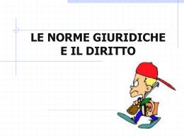 INTRODUZIONE AL DIRITTO PowerPoint