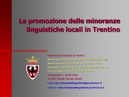 La normativa provinciale per la promozione delle minoranze