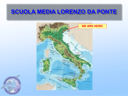 scuola media lorenzo da ponte we are here!