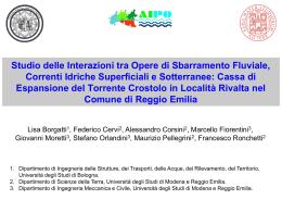 Diapositiva 1 - idrologia.unimore.it - Università degli studi di Modena