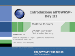 OWASP Day III