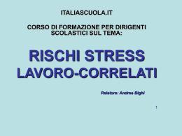 LA PREVENZIONE DELLO STRESS LAVORO