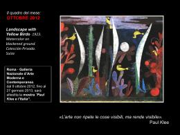 """""""Paul Klee e l`Italia""""."""