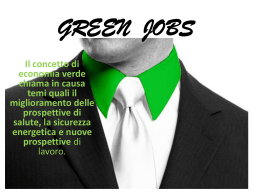 GREEN JOBS - Leopoldo Pirelli