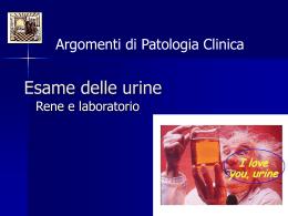 Esame delle orine - PATCLIN, argomenti di patologia clinica