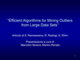 """Efficient Algorithms for Mining Outliers from Large Data Sets"""