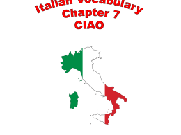 Italian Vocabulary Chapter 7