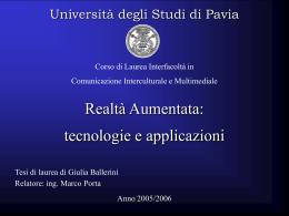 BALLERINI - Cim - Università degli studi di Pavia