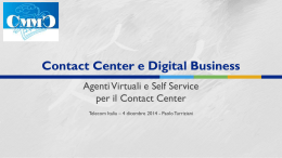 Contact Center e Digital Business