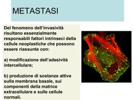 H, metastasi - Infermieristica