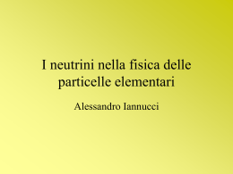 presentazione sui neutrini