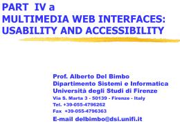 Usabilità - Dipartimento di Ingegneria dell`Informazione