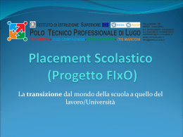 Placement Scolastico (Progetto FIxO)