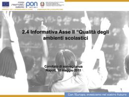 2.4 Informativa Asse II - Archivio Pubblica Istruzione