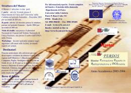 opuscolo03 - Dipartimento di Fisica, Università della Calabria