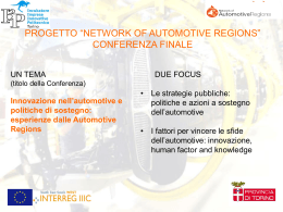 """progetto """"network of automotive regions"""""""