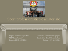 Comenius linguistico Sport professionistico e amatoriale
