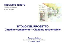 Network Project Cittadino Competente Cittadino Responsabile