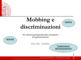 Discriminazioni e mobbing []