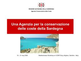 Una Agenzia per la conservazione delle coste della Sardegna