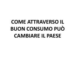 Riccardo Milano, i dieci punti per cambiare i nostri consumi