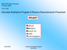 Diapositiva 1 - CNR IMM - Consiglio Nazionale delle Ricerche