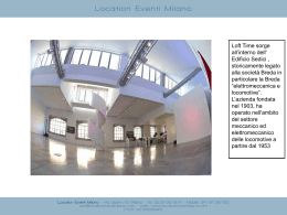 Diapositiva 1 - Location Eventi Milano