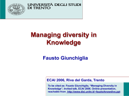 Managing Diversity in Knowledge