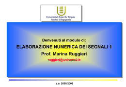 1_Intro-Sequenze-Sistemi - Università degli Studi di Roma Tor