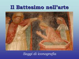 Il battesimo nell`arte