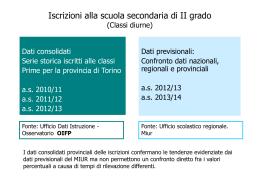 I dati in dettaglio - Provincia di Torino