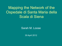 Mapping the Network of the Ospedale di Santa Maria della