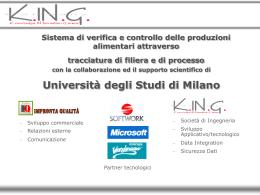 Sistema di verifica e controllo delle produzioni alimentari