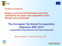 The Objective Territorial Cooperation 2007