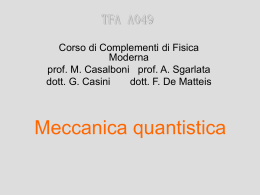 MeccQuant1 - Università di Roma