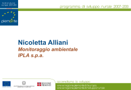 Nicoletta Alliani - Regione Piemonte