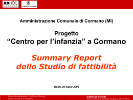 Summary Report - Comune di Cormano