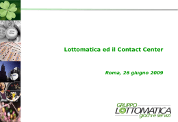 Contact Center Lottomatica - VI CC Summit