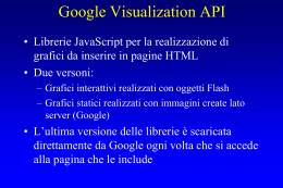 Slide su Google Visualization API